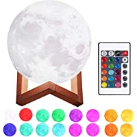 Justech Lámpara de Luna en 3D 15cm Control