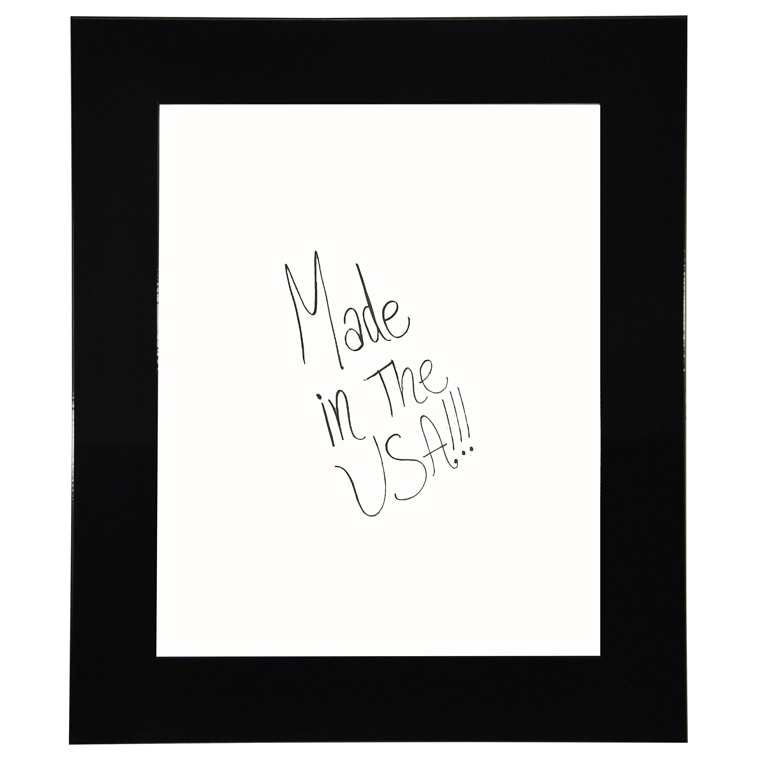 Rayne Mirrors American Made Rayne Delta Black Dry Erase Board 24 x 78