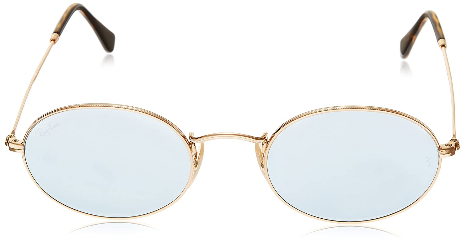 34efbbf2030e8 Ray-Ban Mirrored Oval Unisex Sunglasses - (0RB3547N001 3051