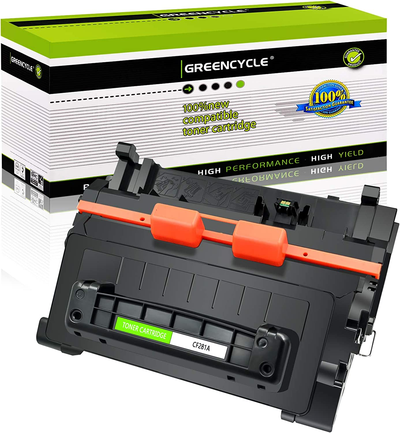GREENCYCLE 2 Pack CF281A High Yield Black Toner Cartridge Compatible for HP 81A MFP M630DN,MFP M604N Laser Printer