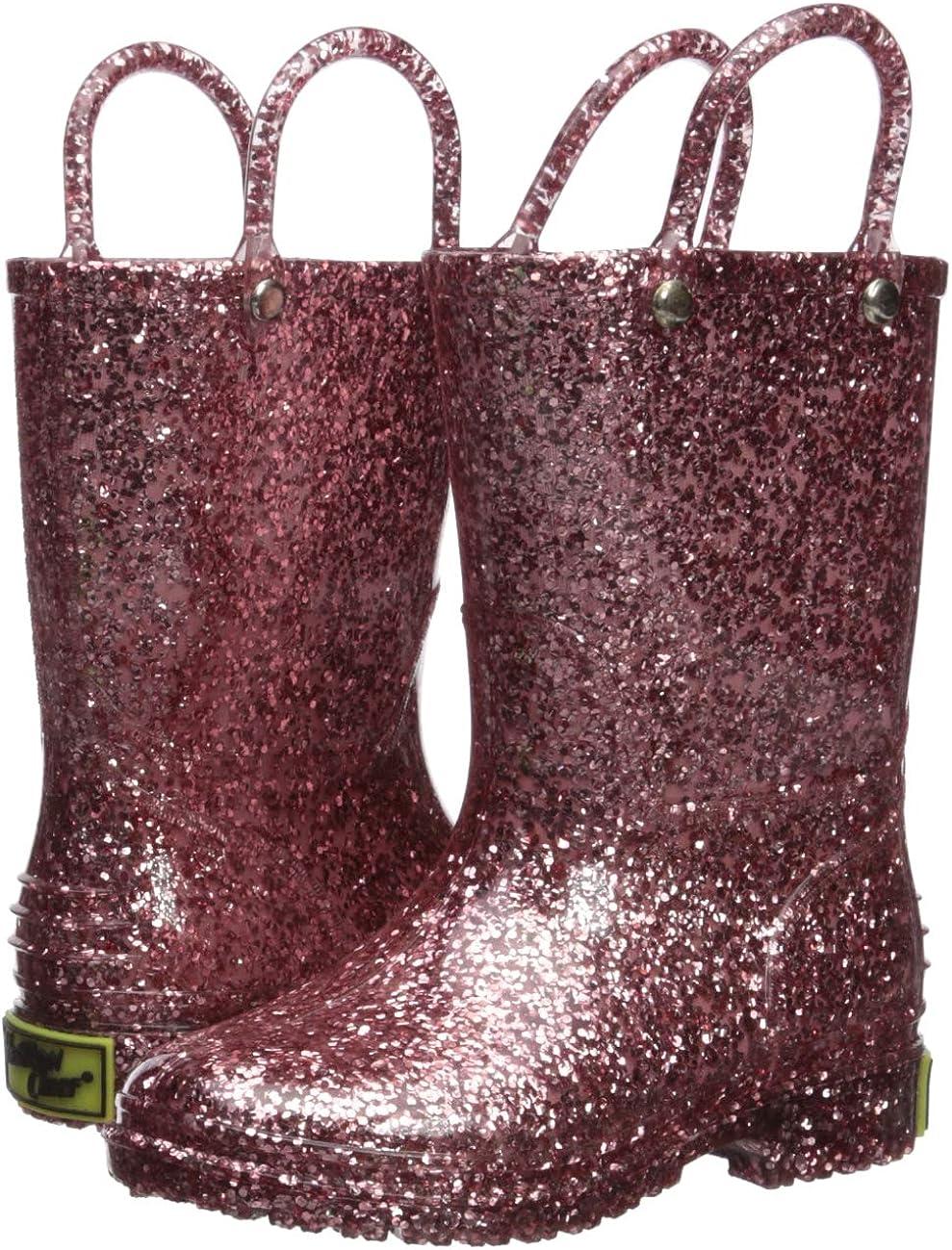 Western Chief Girls Glitter Waterproof Rain Boot
