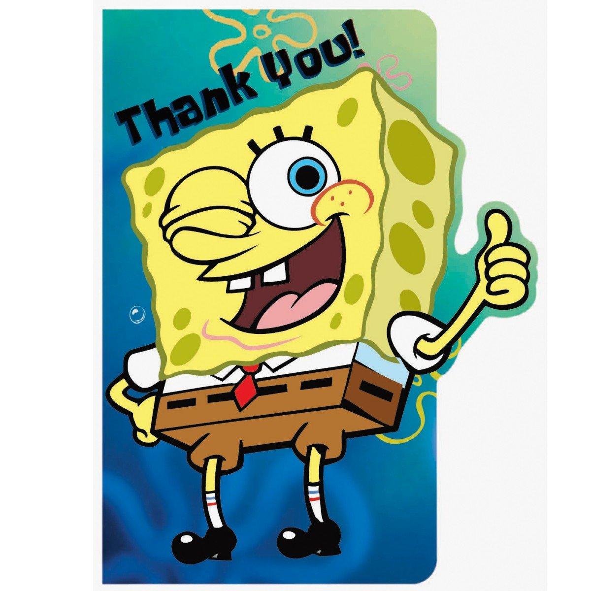 Amazon.com: Bob Esponja notas de agradecimiento (8-Pack): Baby