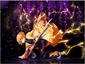 HISLOOKS Demon Slayer Poster,apanese Anime No Fading Art Print Canvas Poster for Home Wall Bathroom Decor 40x60CM(16x24inch) No Frame
