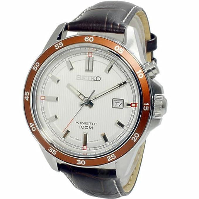 Seiko Kinetic SKA645P1 Reloj Automático para hombres Clásico & sencillo: Amazon.es: Relojes