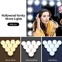 Zoneyee Hollywood Style DIY Makeup Mirror Lights Kit w/ 10 LED Light