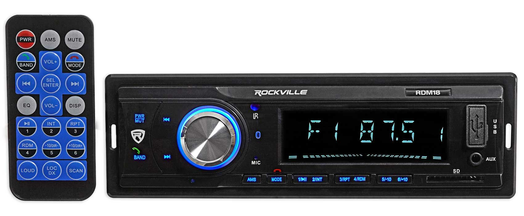 Car Digital Media Bluetooth AM/FM/MP3 USB/SD Receiver For 2003-2007 Honda Accord by Rockville (Image #2)