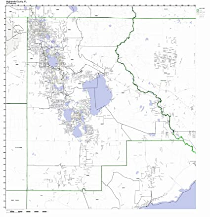 Florida Current Map.Amazon Com Highlands County Florida Fl Zip Code Map Not Laminated