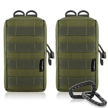 2-pack Molle bolsas - Tactical compacto resistente al agua ...