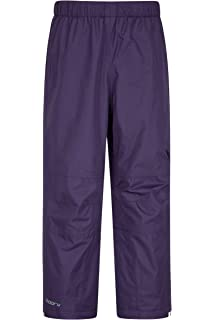 Half Leg Zip Breathable Childrens Rain Pants for Travelling Durable Over Pants Taped Seams Rain Pants Mountain Warehouse Spray Kids Waterproof Over Trousers