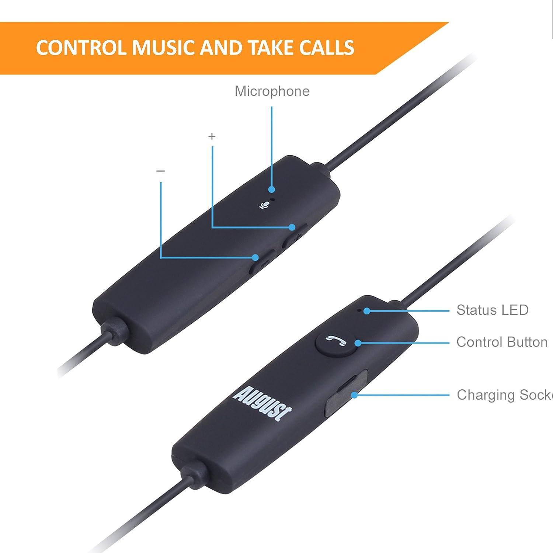 August EP614 - Auriculares Sport Bluetooth Inalámbricos: Amazon.es: Electrónica