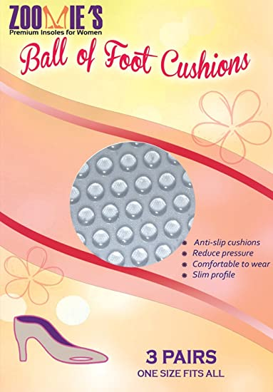 Ball of Foot Cushions - Metatarsalgia Pads 3 Pairs Insoles - Provide Support and Relief to Metatarsal Area, Mortons Neuroma, and Sesamoiditis Pain