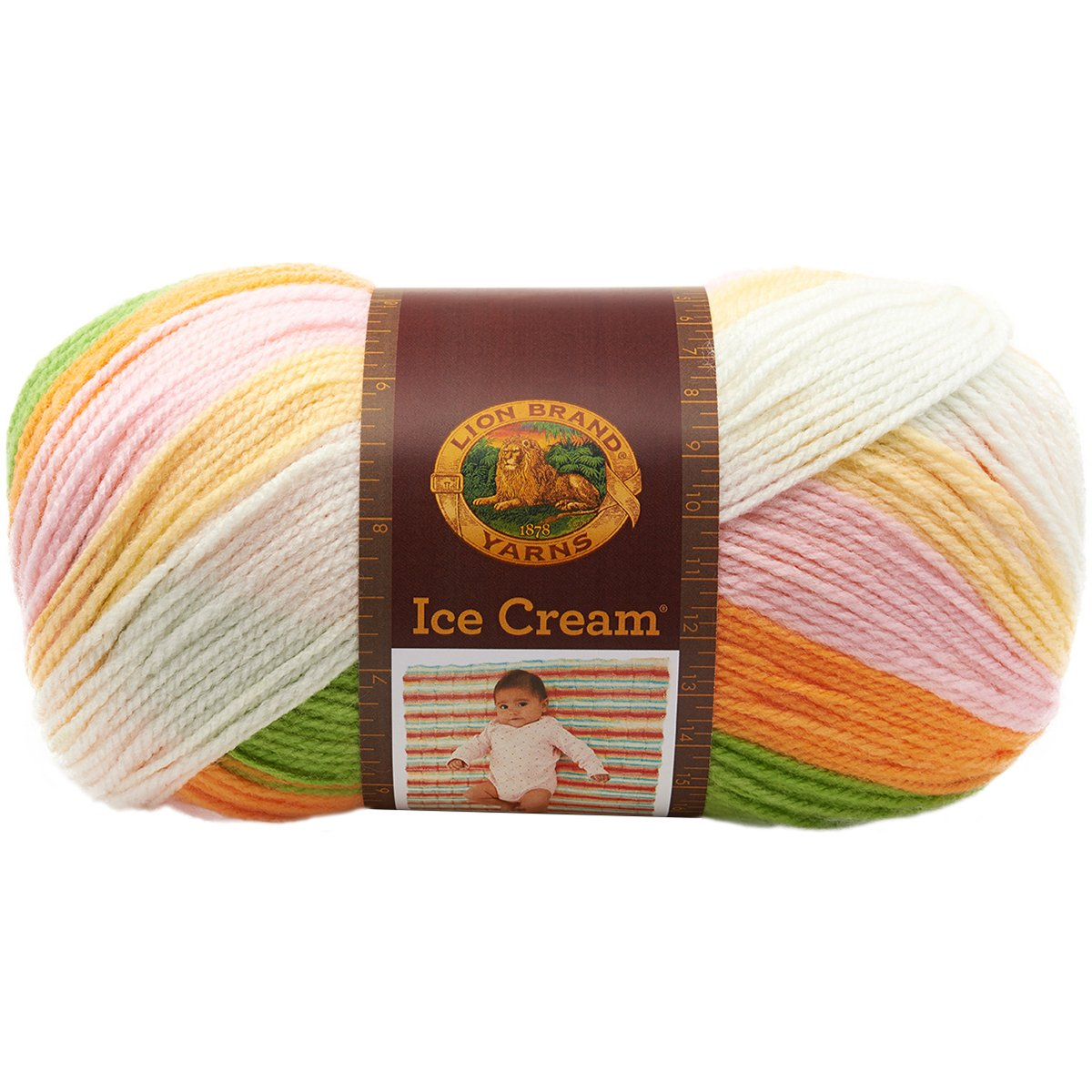 Lion Brand Yarn ICE Cream Yarn Blueberry 10.89 x 10.89 x 22.32 cm