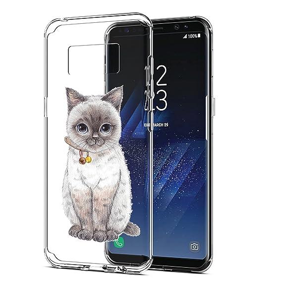 Caler Funda Galaxy S8 Plus,Carcasa Samsung Galaxy S8 + Plus, Funda Ultra Delgado TPU Silicona Transparente Protectora Anti-Arañazos Carcasa Animada ...