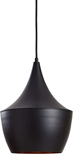 Rivet Industrial Pendant Light with Bulb, 63 H, Black