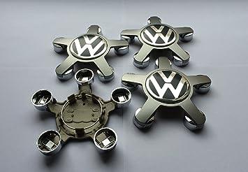 Juego de 4 embellecedores centrales para llantas de Volkswagen Star, 134 mm: Amazon.es: Coche y moto