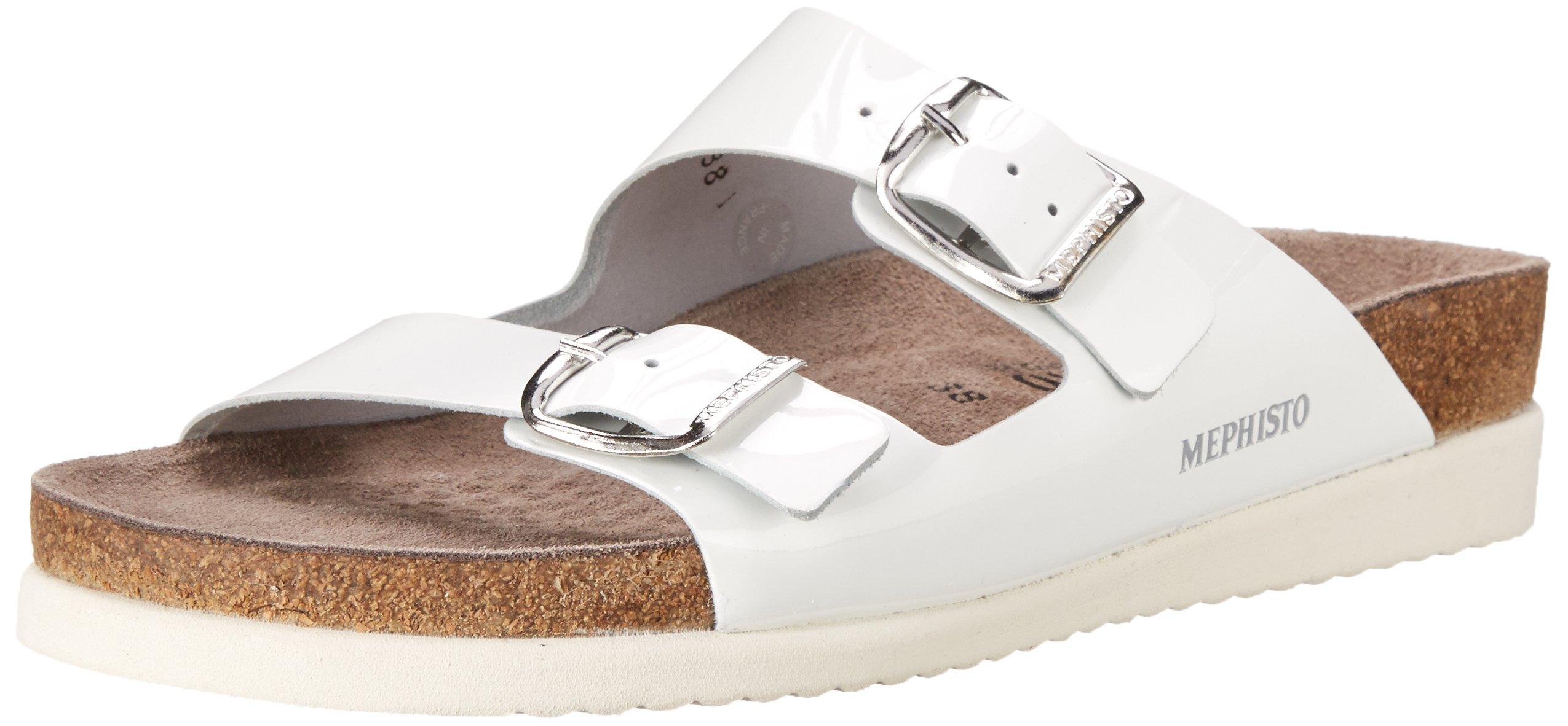 Mephisto Women's Harmony  Sandal, White Patent, 8 M US