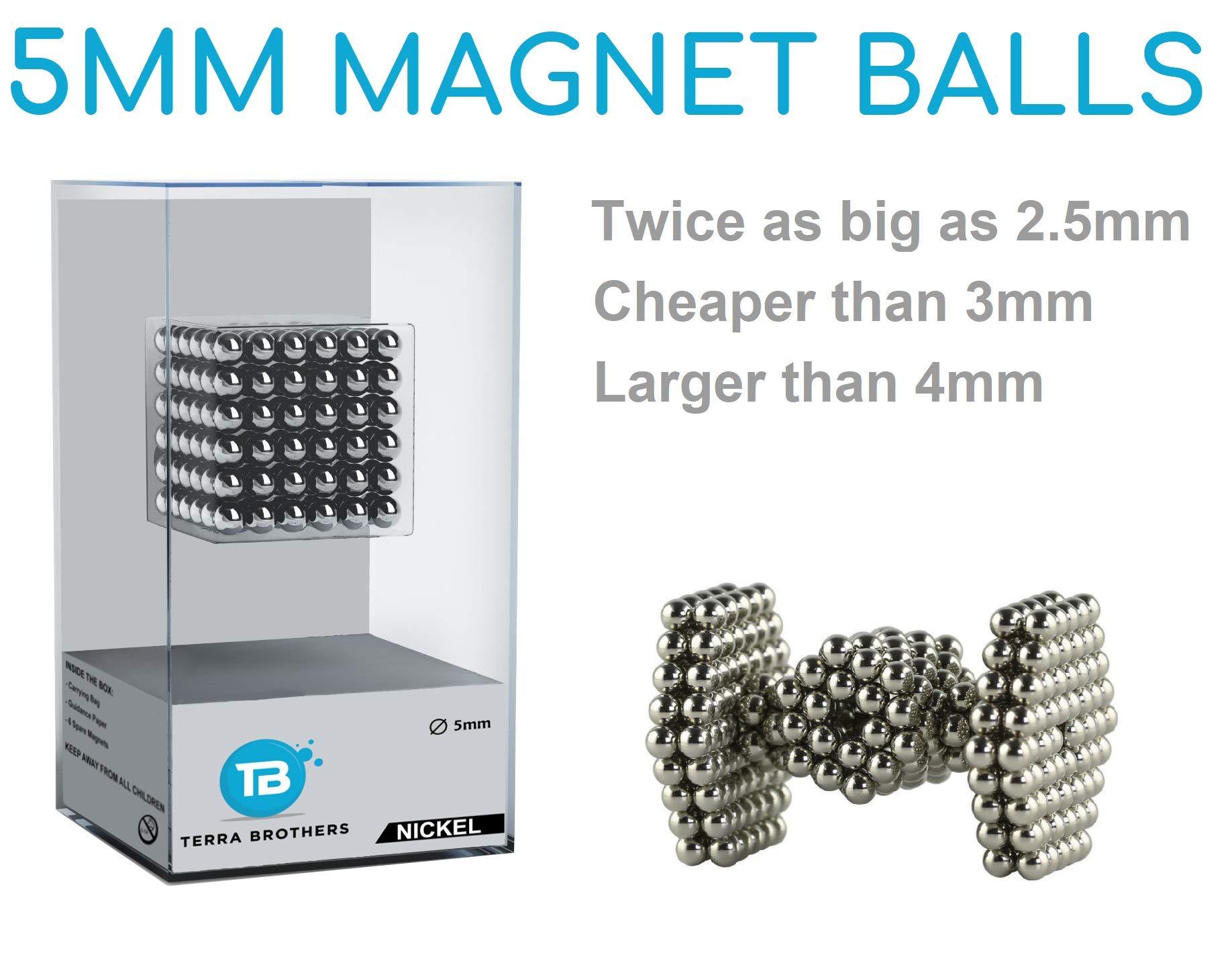 Rankone - Magnetic Balls, Blocks | Stress Relief Desk Toys | Fun Creative Set | Sculpture Desk Toy | Silver Set of 216 Pieces (5mm)