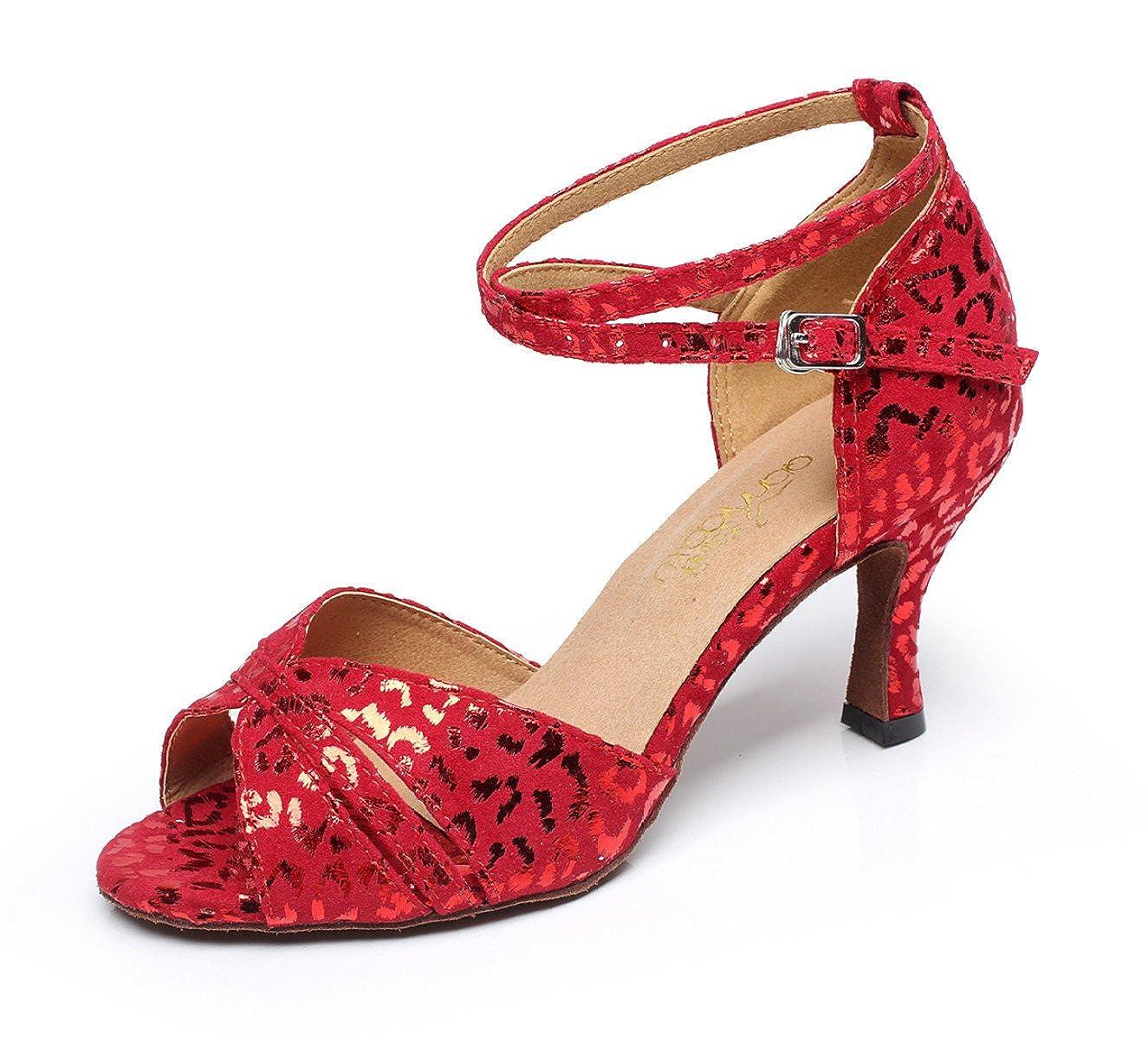 JSHOE Sexy Salsa Jazz Ballroom Dance Talons Chaussures Ballroom Chaussures Latin Tango Party Danse Chaussures Talons Hauts,Red-heeled7.5cm-UK4/EU35/Our36 - 5263a29 - boatplans.space