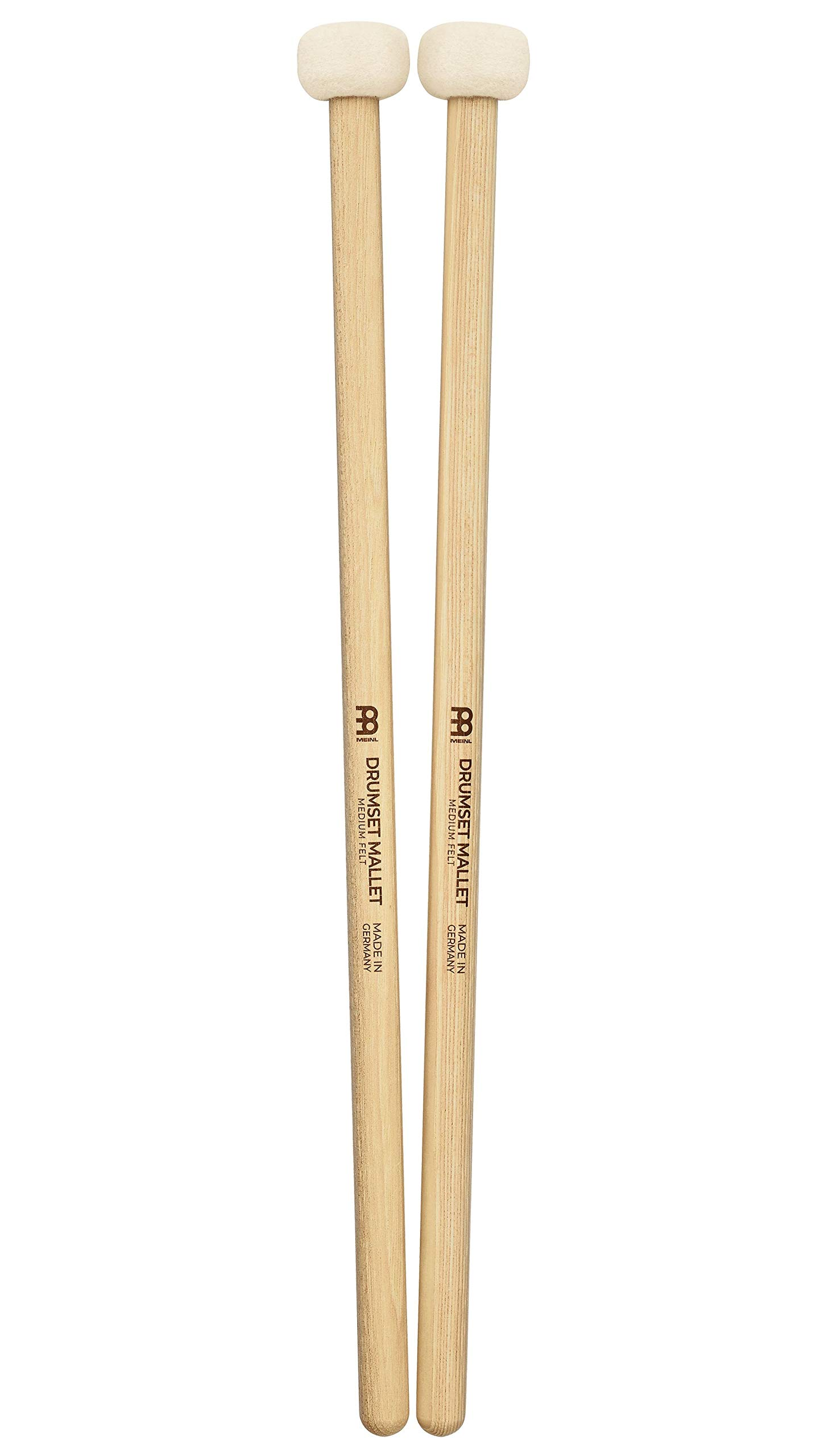 Meinl Stick & Brush Drum Set Mallets with Medium Soft Felt Head and 5A American Hickory Handle - MADE IN GERMANY SB401 by Meinl Stick & Brush