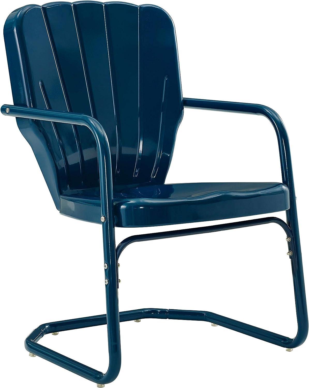 Crosley Furniture CO10-NV Ridgeland Retro Metal Chair, Navy
