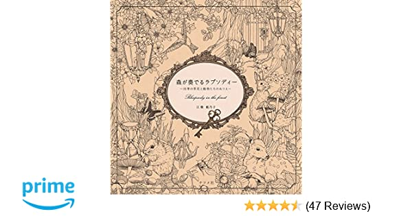 Mori Ga Kanaderu Rhapsody In The ForestColoring Book Japan Edition 9784816359668 Amazon Books