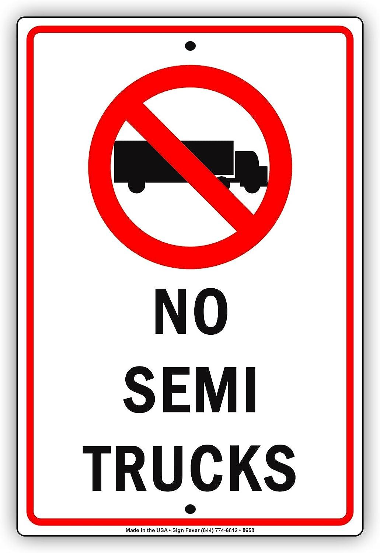 Amazon.com: No permite Semi camiones con símbolo aluminio ...