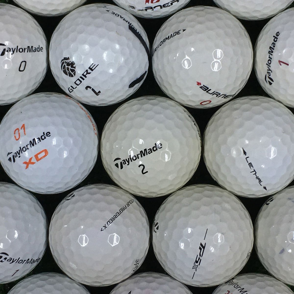 ロストボール Lost Ball ボール テーラーメイド混合 練習用ボール 500個セット 500個入り  ホワイト B07BVQ285F