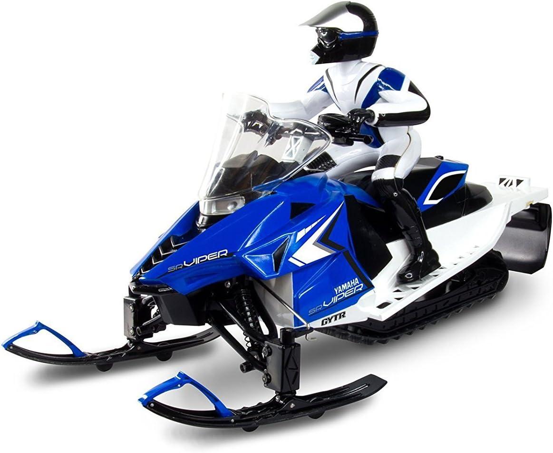Blue KidzTech RC Yamaha Snowmobile