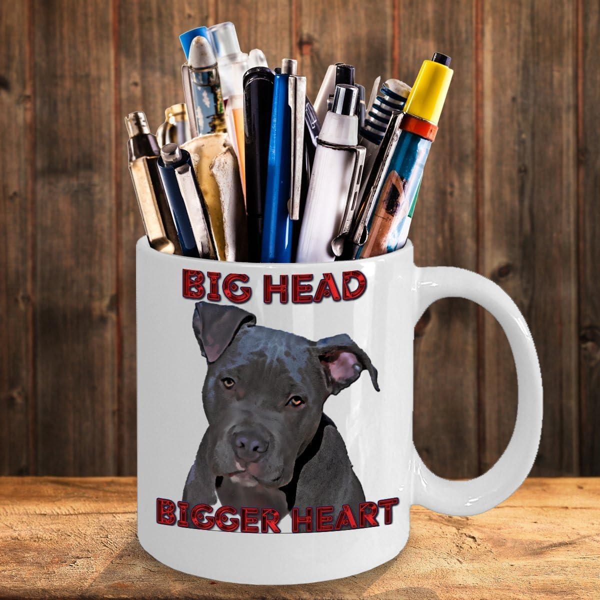 Big Head Bigger Heart Pitbull Lovers Mug