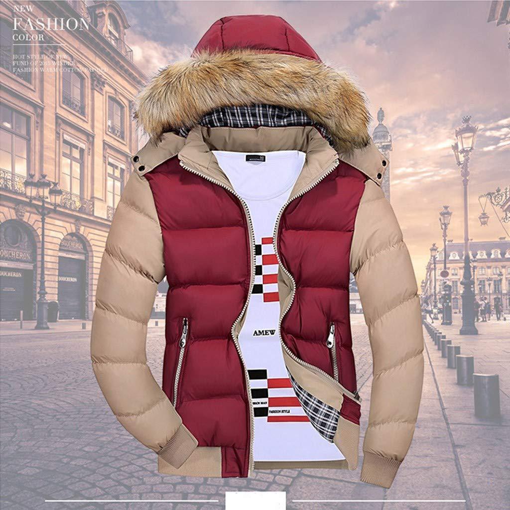 Cappotto in piumino monocolore con cappuccio e bordo a
