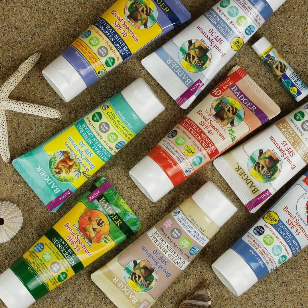 Badger Clear Zinc Mineral Sunscreen SPF 30, 2.9 oz