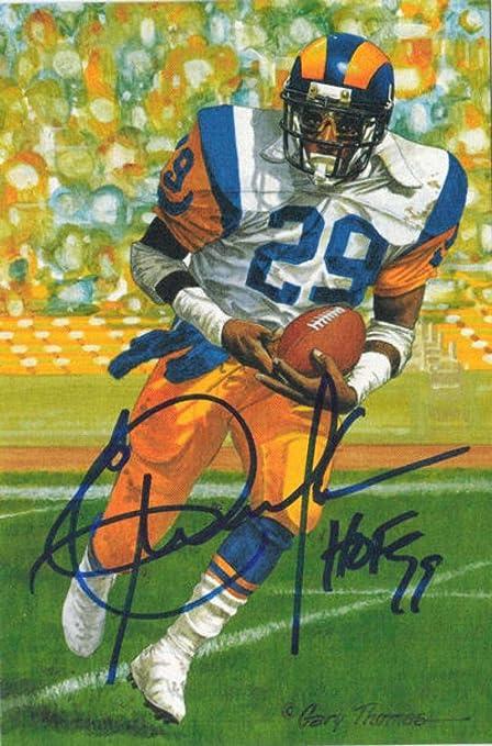 Eric Dickerson Autographed Los Angeles Rams Goal Line Art Card HOF Blue  11054 - NFL Autographed 9e1a8affc