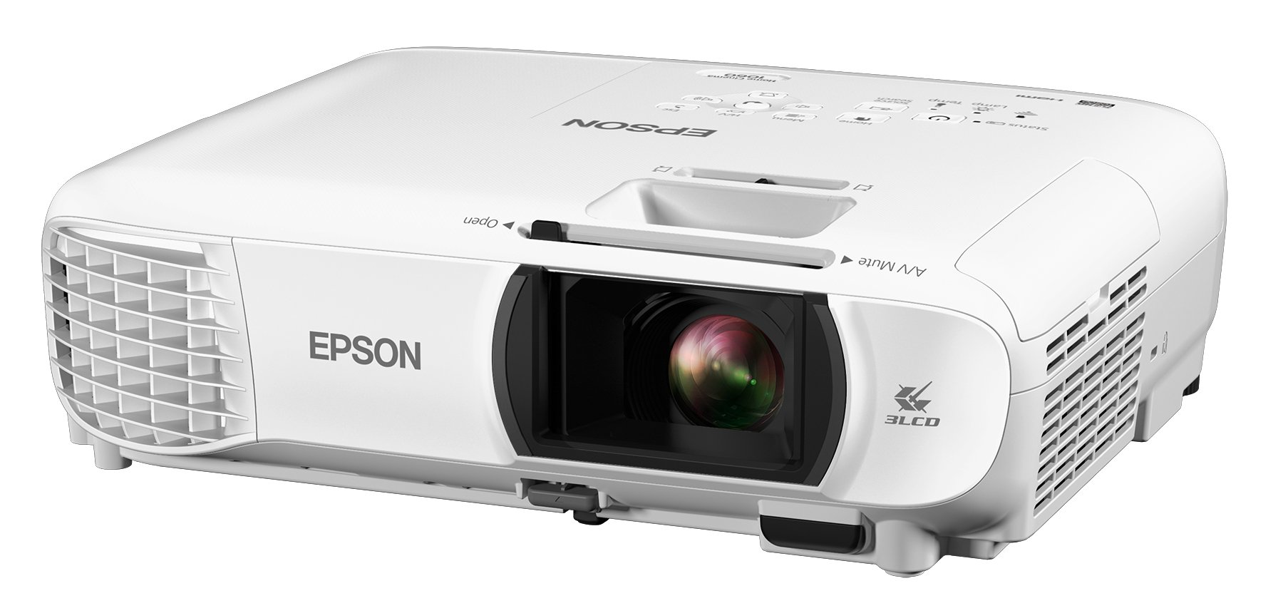 Epson Home Cinema 1060 Full HD 1080p 3,100 lumens Color Brightness (Color Light Output) 3,100 lumens White Brightness (White Light Output) 2X HDMI (1x MHL) Built-in Speakers 3LCD Projector (Renewed) by Epson (Image #1)