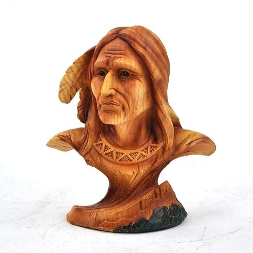 WonderMolly Nativo Americano Guerrero Busto Decor: Amazon.es ...