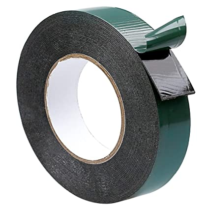 Double Sided Foam BLACK Heavy Duty Tape Strong Adhesive  Roll Number Plate Pad 2