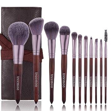 Amazon.com: Juego de 10 brochas de maquillaje con base ...