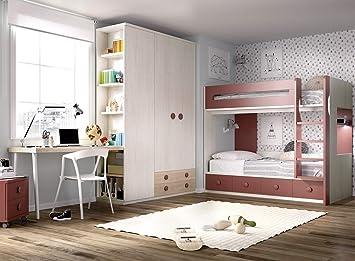 Jump 301 Lit surélevé pour Chambre d\'enfant, Bureau, casier ...