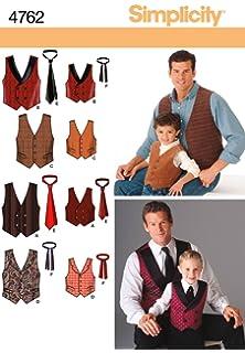 4e667d1951b60a Simplicity BB 44-46-48-50-52 Sewing Pattern 2346 Mens Vests  Amazon ...