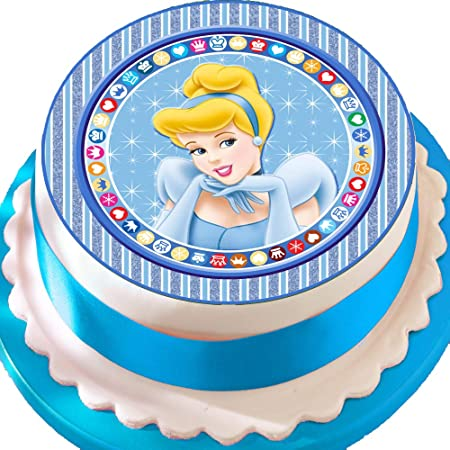 Sensational Precut Edible Icing Cake Topper 7 5 Inch Round Beautiful Funny Birthday Cards Online Overcheapnameinfo