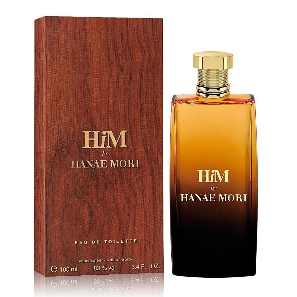 Hanae Mori Him Eau de Toilette Spray for Men, 3.4 Fluid Ounce