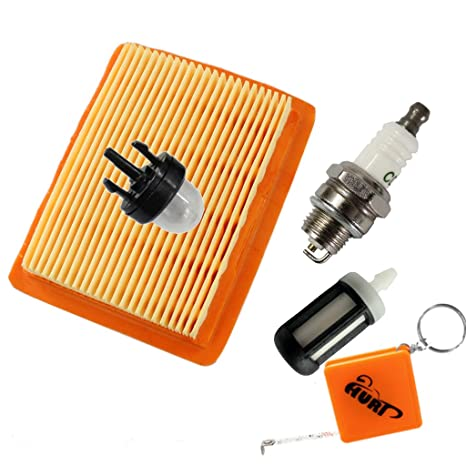 Huri Filtro de Aire + filtros de gasolina + Bujía Para Stihl FS120, FS200,