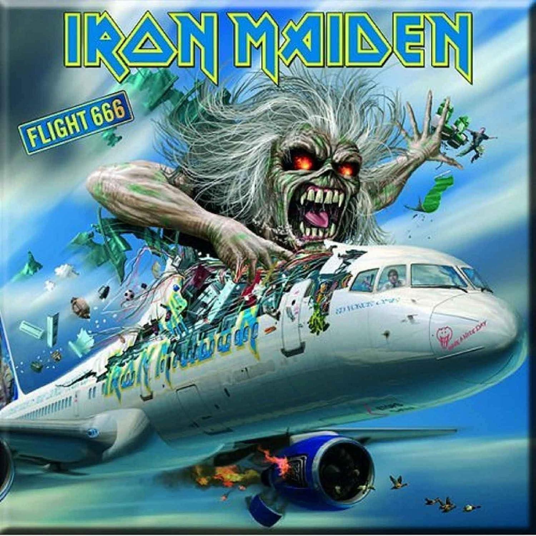 signs-unique Iron Maiden Flight 666 Steel Fridge Magnet