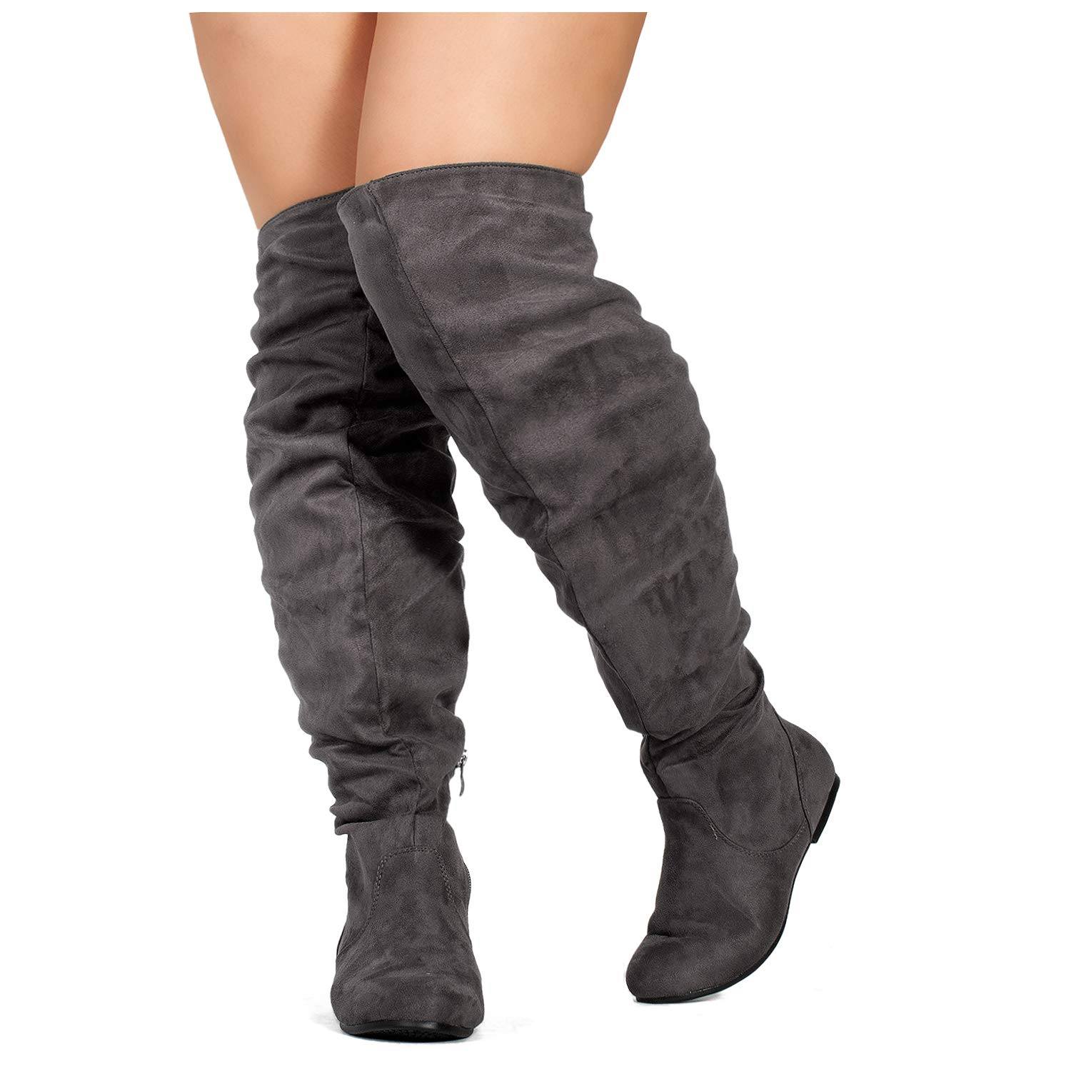RF ROOM OF FASHION Womens Wide Calf Over The Knee High Slouchy Boots