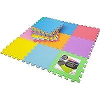 Tapis de Sol Enfant et Bébé en Mousse - 18 Dalles Colorées à Imbriquer 30 x 32 cm - Idéal pour l'Éveil de l'Enfant