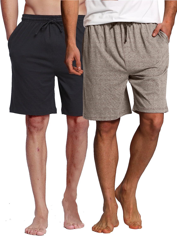 CYZ Men's Sleep Shorts - 100% Cotton Knit Sleep Shorts & Lounge Wear