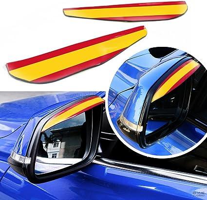 Estilo de la Bandera española Universal Espejo Retrovisor del Coche Cubierta Lluvia Parasol Espejo Lateral Escudo de Sol 1 par: Amazon.es: Coche y moto