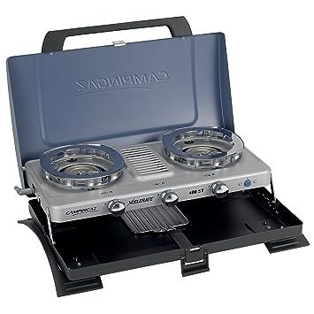blau Camping-Kocher Campingaz Serie Xcelerate 400/ST Doppel-Gasbrenner mit Toaster