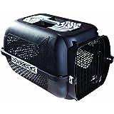 Catit Dogit Transportbox Voyageur Cat/Dog, Größe M, 56x 37x 30cm, schwarz Tiger Muster