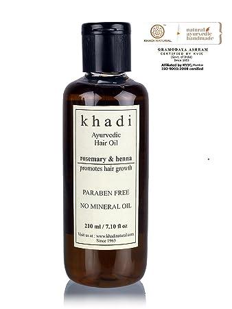 Khadi Natural Ayurvedic Rosemary Henna Hair Growth Oil Sls