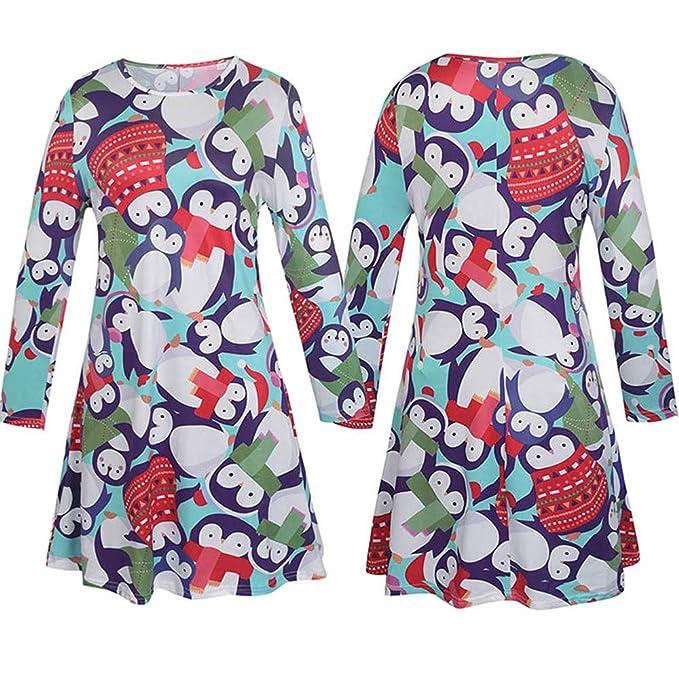 6622a21e2 Amazon.com  Lurryly❤Christmas Family Matching Long Sleeves Dress ...